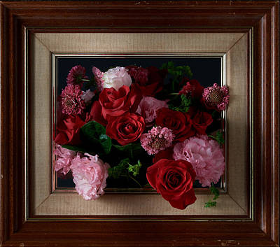 Photograph - Framed Bouquet Of Flowers by David Thompson