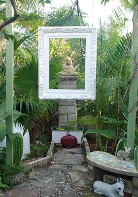 Photograph - Framed Buddha by Michael Jude Russo