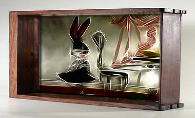Digital Art - Framed Bunny Abstract by Mario Carini