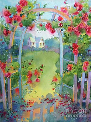 Framed By The Roses Art Print