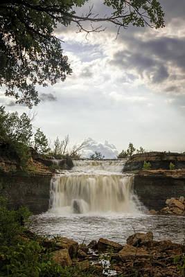 Photograph - Framed Falls by Scott Bean