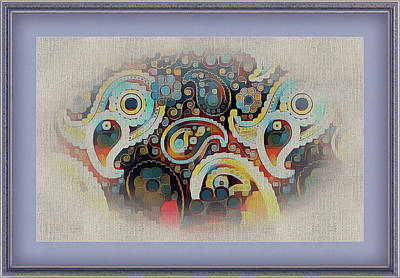 Digital Art - Framed Fantasy by Clive Littin