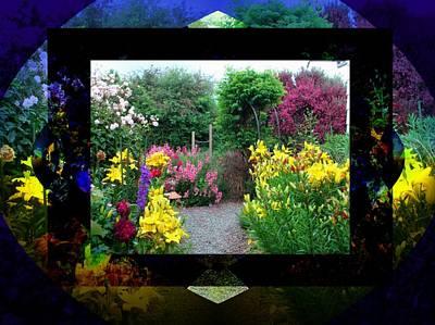Digital Art - Framed Garden by Nancy Pauling