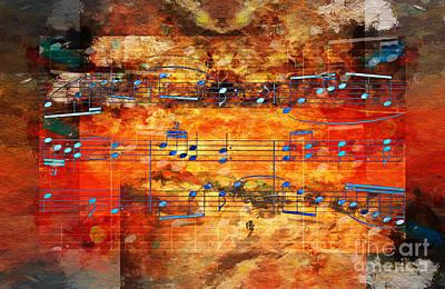 Digital Art - Framed Heterophony by Lon Chaffin