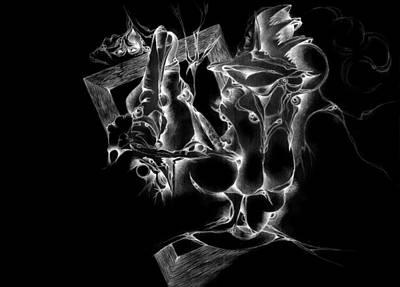 Pastel Pencils Digital Art - Framed Inverted by Bodhi