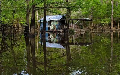 Photograph - Framed Lake Cabin by Deb Buchanan