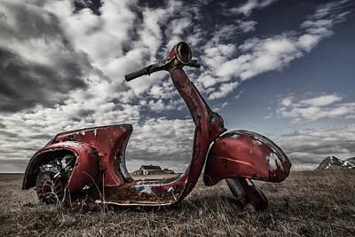 Vespa Photograph - Framed Memories by Bragi Ingibergsson - Brin
