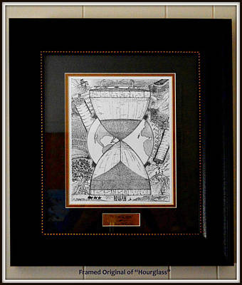 Drawing - Framed Original Of Hourglass by McCarthy Designs