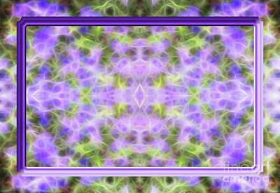 Framed Purple Glow Abstract Original