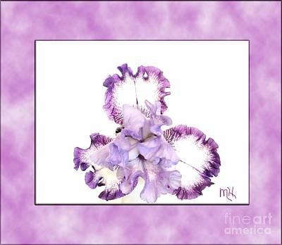 Photograph - Framed Purple Iris by Marsha Heiken
