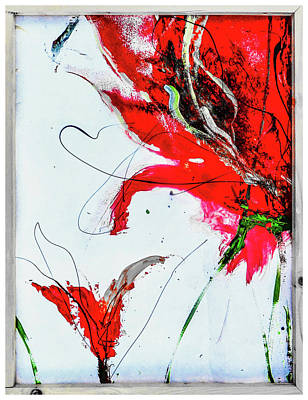 Digital Art - Framed Scribbles And Splatters On Canvas Wrap by Lisa Kaiser