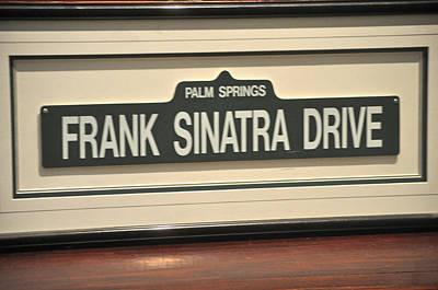 Framed Street Sign Frank Sinatra Drive Palm Springs Original by Jay Milo