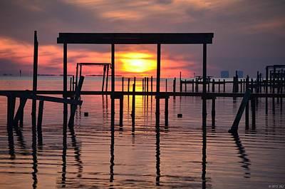 Photograph - 0214 Framed Sunset On Sound by Jeff at JSJ Photography