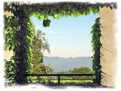 Photograph - Framing Napa Valley by Joan  Minchak