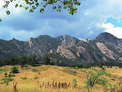 Fall Photograph - Framing The Flatirons by Marilyn Hunt