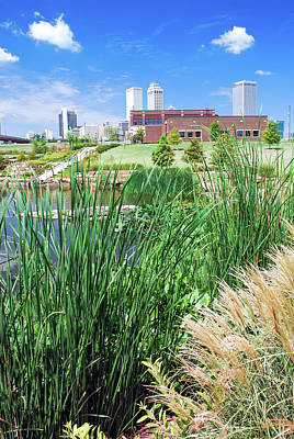 Photograph - Framing The Tulsa Oklahoma Skyline - Color by Gregory Ballos