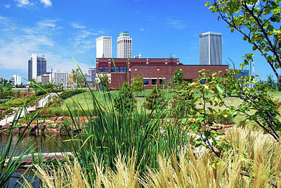 Photograph - Framing The Tulsa Skyline - Color by Gregory Ballos