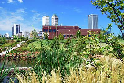 Photograph - Framing The Tulsa Skyline - Color by Gregory Ballos