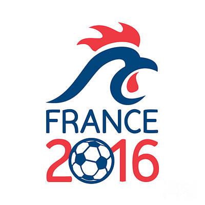 France 2016 Europe Football  Championships Art Print