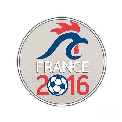 France 2016 Football  Europe Championships Circle Art Print