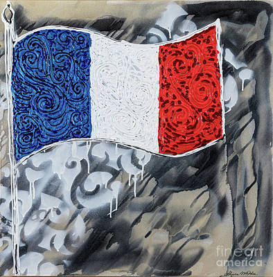 Painting - France Flag by Sheila McPhee