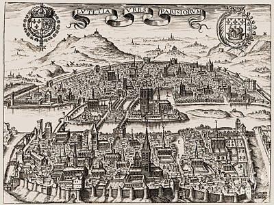 Photograph - France: Paris, 1608 by Granger
