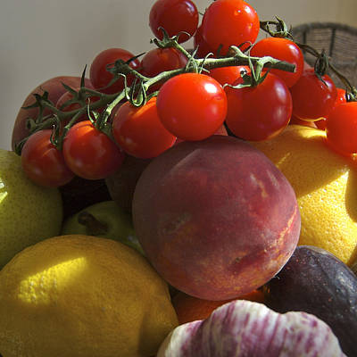 France, Paris Fruits And Vegetables Art Print by Keenpress