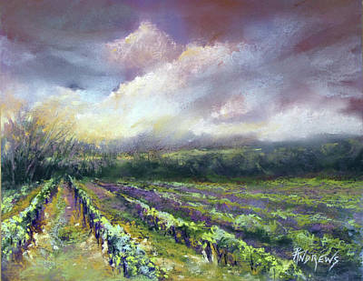 Painting - Dramatic Skies Over The Winery, France by Rae Andrews