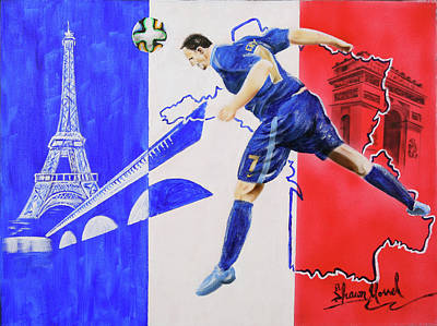 Painting - France by Shawn Morrel