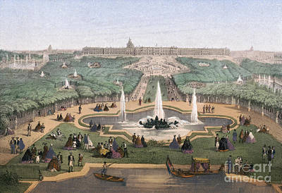Drawing - France, Versailles, C1875 by Granger