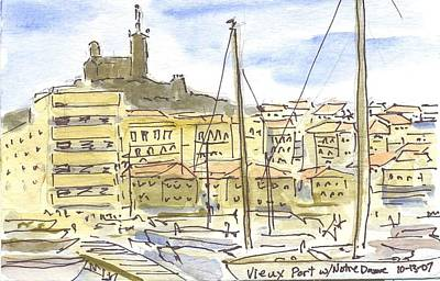 Vieux Port Painting - France - Vieux Port In Marseille by Michael Liebhaber