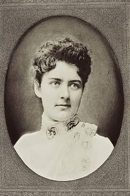 First-lady Drawing - Frances Clara Folsom Cleveland Preston by Vintage Design Pics