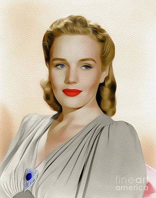 Painting - Frances Farmer, Vintage Actress by John Springfield