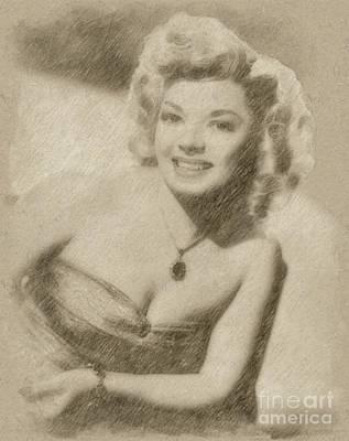 Fantasy Drawings - Frances Langford, Actress by Frank Falcon