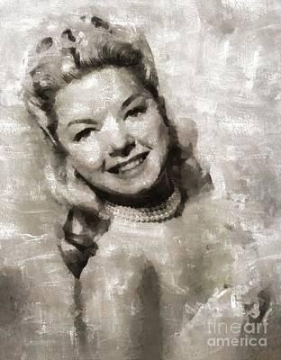 Frances Langford, Actress Art Print by Mary Bassett