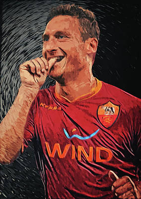Francesco Totti Digital Art - Francesco Totti by Taylan Apukovska
