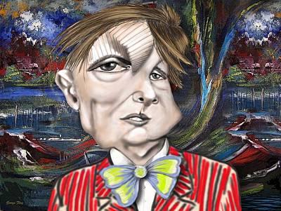 Digital Art - Francis Bacon by George Flay
