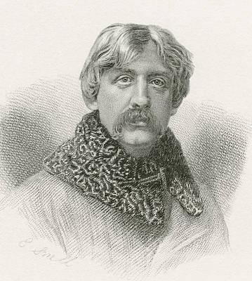 Francis Bret Harte, 1836 -1902 Art Print by Vintage Design Pics