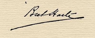 Francis Bret Harte,1839-1902.signature Art Print by Vintage Design Pics