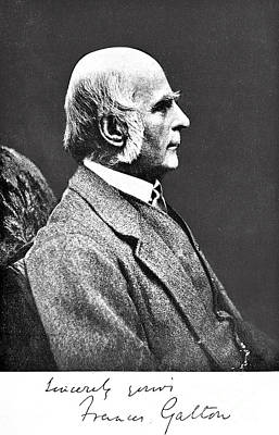 Galton Photograph - Francis Galton, English Anthropologist by Wellcome Images