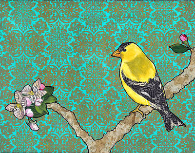 Canary Mixed Media - Francis by Jacqueline Bevan