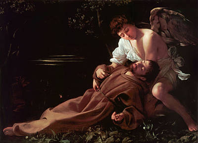 Michelangelo Painting - Francis Of Assisi In Ecstasy by Caravaggio
