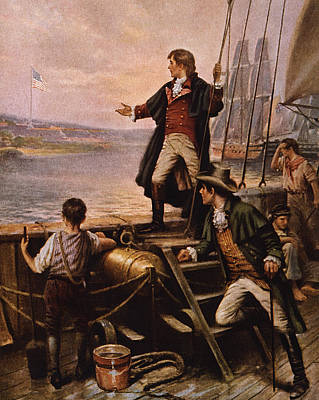 War 1812 Painting - Francis Scott Key - Star Spangled Banner by War Is Hell Store