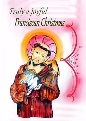Painting - Franciscan Greeting Card by Myrna Migala
