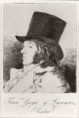 Self-portrait Drawing - Francisco Jos  De Goya Y Lucientes 1746 by Vintage Design Pics