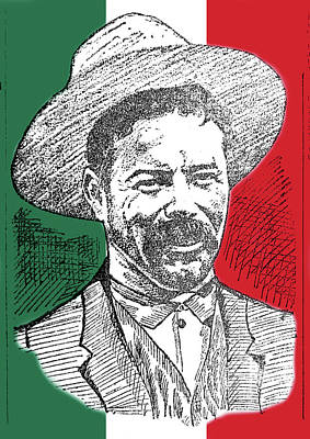 Digital Art - Francisco Pancho Villa by Richard Reeve