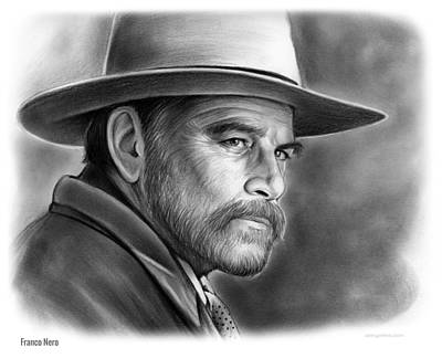 Drawing - Franco Nero by Greg Joens
