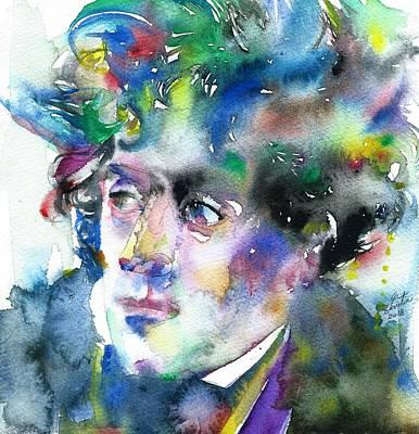 Painting - Francois-rene De Chateaubriand - Watercolor Portrait by Fabrizio Cassetta