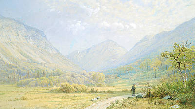 Painting - Franconia Notch, New Hampshire by William Trost Richards