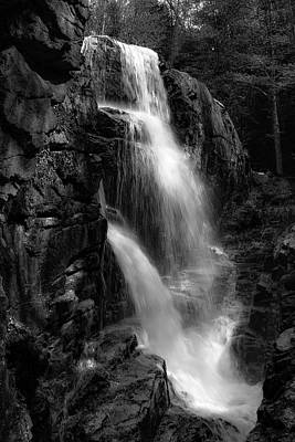 Art Print featuring the photograph Franconia Notch Waterfall by Jason Moynihan